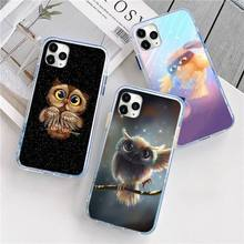 Animal Night Owl Lovely Phone Case For iphone 12 5 5s 5c se 6 6s 7 8 plus x xs xr 11 pro max mini