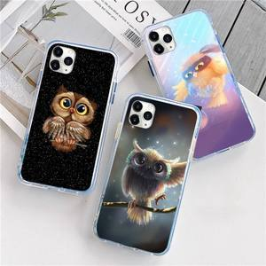 Image 1 - Animal Night Owl Lovely Phone Case For iphone 12 5 5s 5c se 6 6s 7 8 plus x xs xr 11 pro max mini