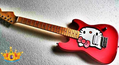 Haute qualité FDST-1073 couleur rose corps solide avec cerf-volant chat pickguard érable fretboard guitare électrique, livraison gratuite