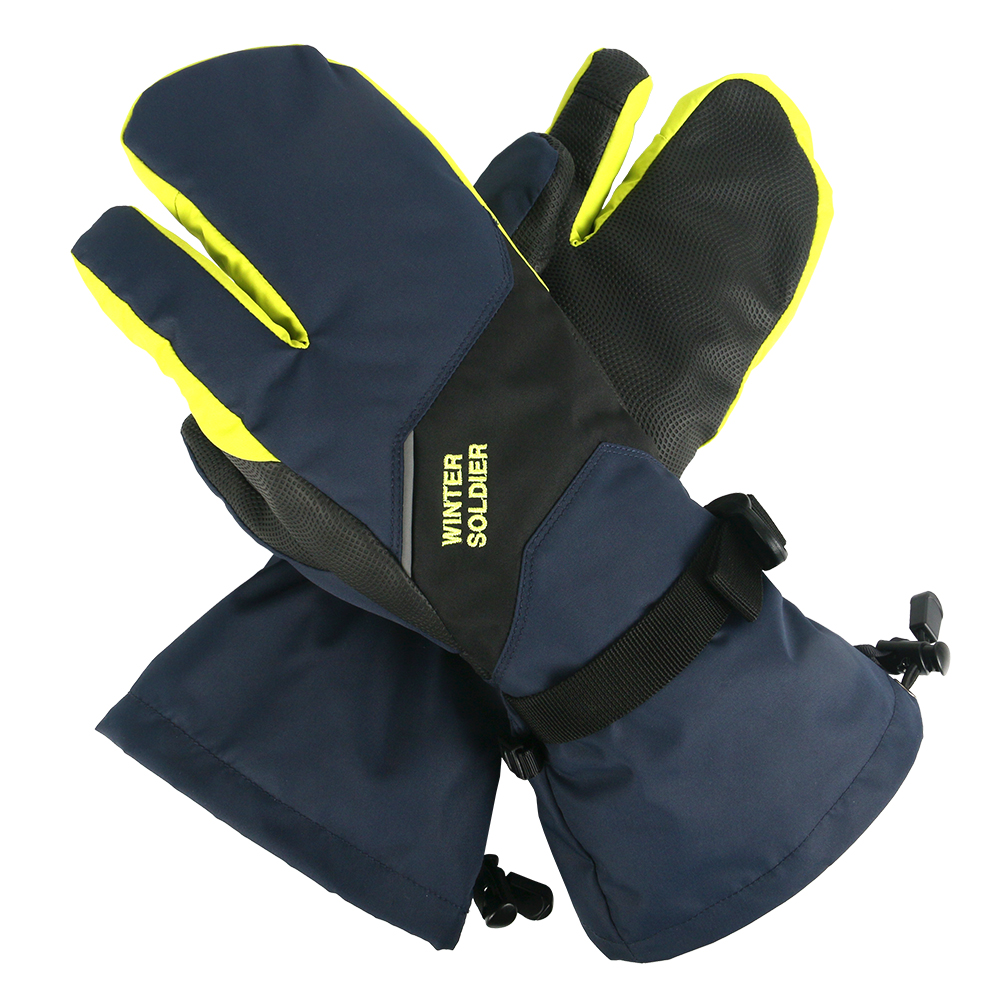 Copozz зимние лыжные перчатки 3 пальца сенсорный экран Тепловые Теплые мотоциклетные велосипедные водонепроницаемые перчатки для мужчин и женщин