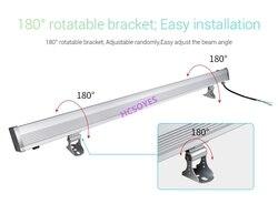 MiBOXER RL2-48 48W RGB+CCT LED Wall Washer Light IP66 Waterproof AC110V 220V Wireless 2.4G Remote & Smart Phone APP WiFi control