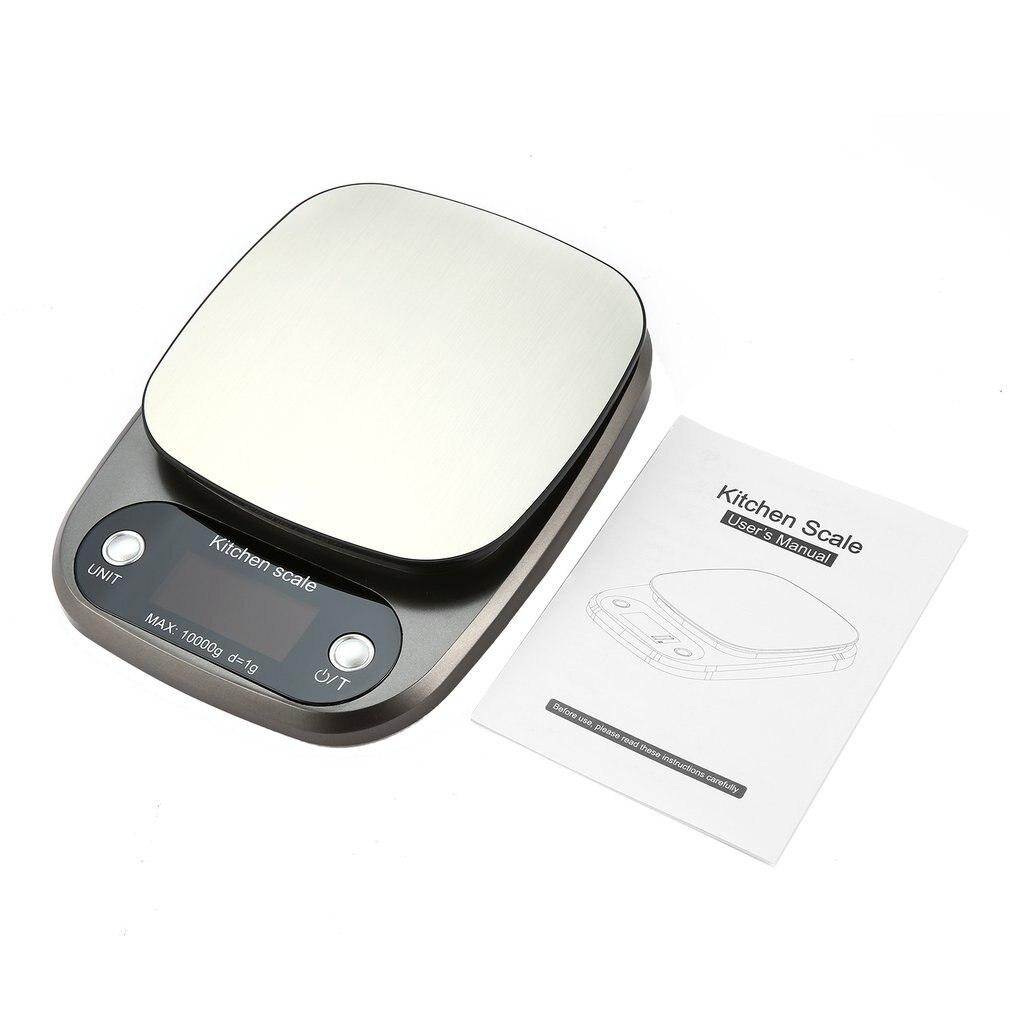 Цифровые весы 10 кг/0,1 г, высокоточные весы из нержавеющей стали, продажа, ЖК-дисплей, карманные весы для кухни, многофункциональные-0