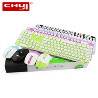 CHYI 2.4Ghz اللاسلكية الكمبيوتر لوحة مفاتيح وماوس كومبو مجموعة ضئيلة المحمولة Usb PC الملونة مكتب لوحة المفاتيح للمحمول الألعاب ألعاب|مجموعات لوحة المفاتيح والماوس|   -