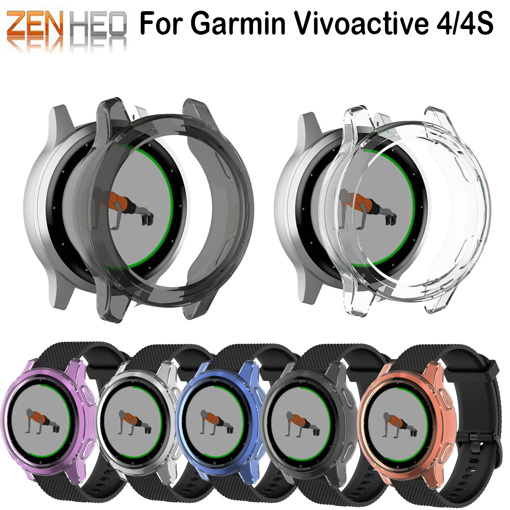 Rubber Sleeve Cover Protective Case For Garmin Vivoactives Smart Watch Cases For Garmin Vivoactive 4S Shell Protector Cover