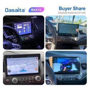 """Image 4 - Dasaita Android GPS Dẫn Đường Cho Xe Honda Civic 2009 2010 2011 Với Android 10.0 GPS Đài Phát Thanh Người Chơi 1 Din màn Hình HD 10.2"""""""