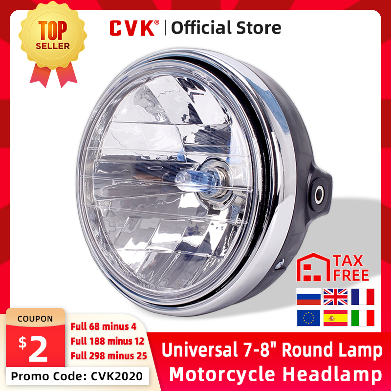 CVK Universal 7inch 8inch Motorcycle Round Lamp Headlight Headlamp Head Light For HONDA Cb400 Cb500 Cb1300 Hornet 250 600 900 Vtec Vtr