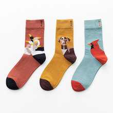 Unisex Painting Style Women Socks Cotton Colorful Kawaii Crew Socks Women 1 Pair Streetwear Size 36-44 cheap SONDR CN(Origin) Polyester Spandex STANDARD Casual Other 8126 Full Breathable sweat-absorbent anti-static Middle Solid color