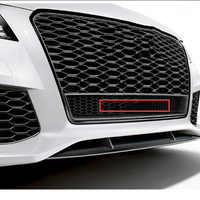 42cm gran parrilla emblema para Audi quattr0 A6L Q3 Q5 Q7 RS3 RS6 S4 estilo de coche frontal inferior de nido de abeja insignia Logo de cuatro ruedas