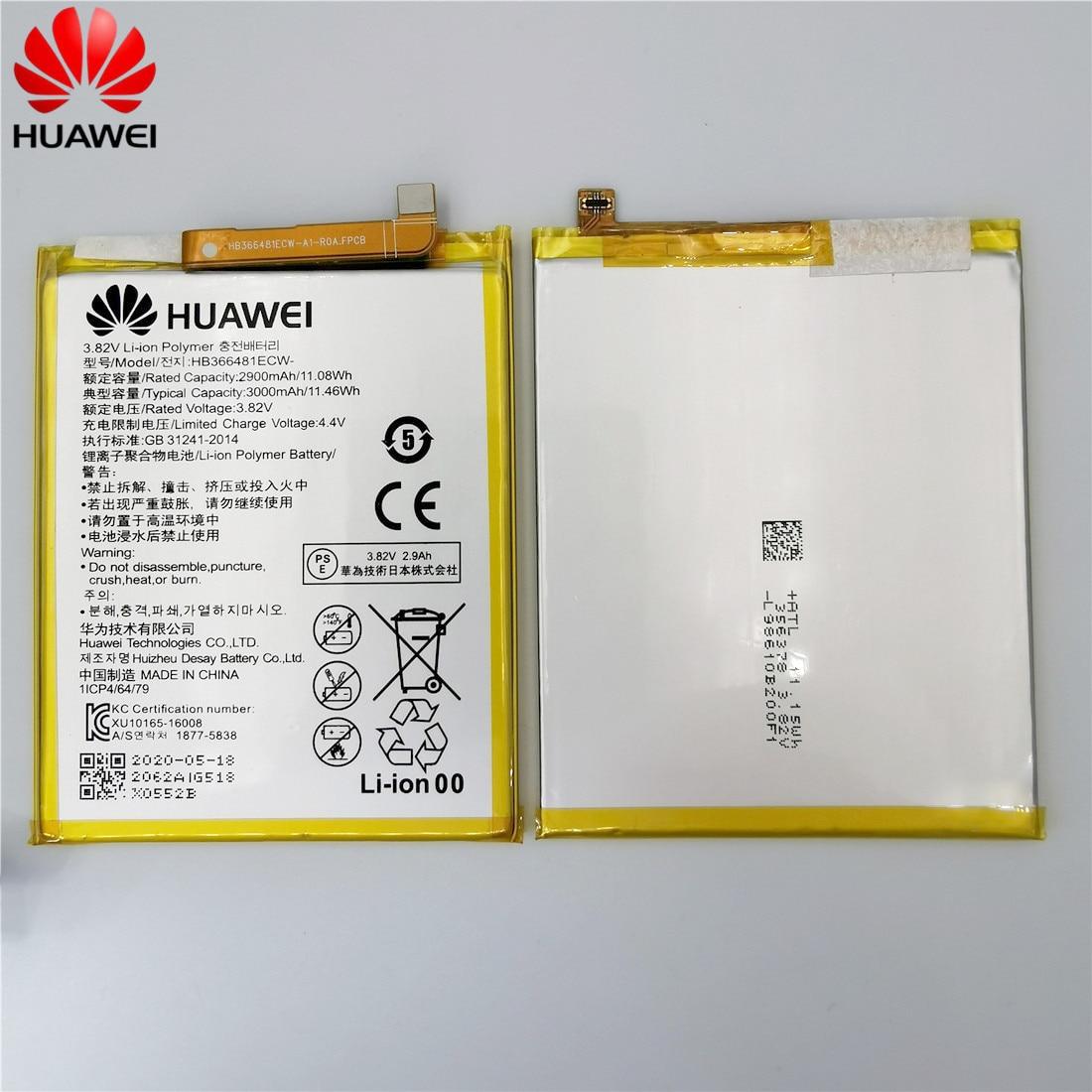 2020 original Real 3000mAh HB366481ECW For Huawei p9/p9 lite/honor 8/p10 lite/p8 lite 2017 /p20 lite/p9lite battery +Tool 6