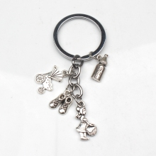 New Design Mother Gift Charm Keychain, Bottle Stroller Shoe Jewelry Diy Handmade Moms Love Souvenir Bag