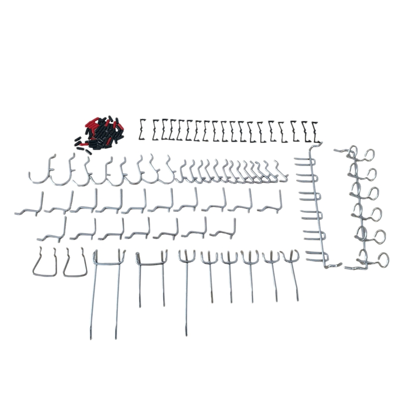 50Pcs Pegboard Hooks Assortment Peg Board Attachments Pegboard Hooks Set Wall Hooks Storage Garage Organizer with Peg Locks|Hooks & Rails| |  - title=