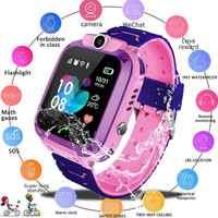 Reloj inteligente Q12 para niños, de emergencia, con tarjeta Sim, foto a prueba de agua IP67, regalo para niños para iOS y Android