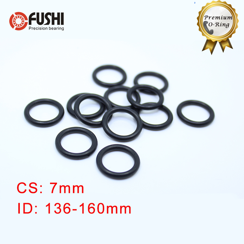 CS7mm NBR Rubber <font><b>O</b></font> <font><b>RING</b></font> ID 136/140/145/150/155/160*7 mm 20PCS <font><b>O</b></font>-<font><b>Ring</b></font> Nitrile Gasket seal Thickness <font><b>7mm</b></font> ORing image