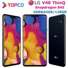 "LG V40 ThinQ V409N Original Unlocked LTE NFC Android Phone Snapdragon 845 Octa Core 6.4"" 16MP 6GB&64GB128GB Fingerprint"