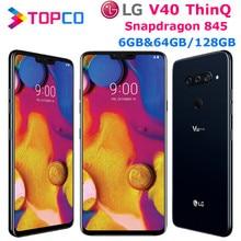 LG V40 ThinQ V409N Original Entsperrt LTE NFC Android Telefon Snapdragon 845 Octa Core 6.4