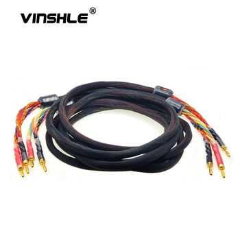 HIFI oxygen-free copper(OFC) audio speaker cable HI-FI high-end amplifier speaker cable Banana plug cable A Pair pair melo david davidlouis audio copper page 2