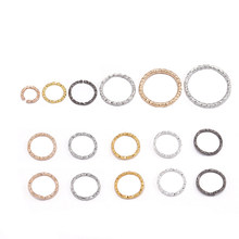 100pcs/lot 8 10 15 18 20 mm Silver Gold Jump Rings Round Twisted Split Rings Connectors For Diy Jewelry Finding Making Supplies(China)