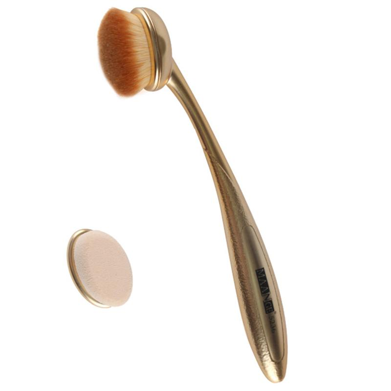 Toothbrush Foundation Brush Professional Face Powder Brush Makeup Brush with Replace Head (Golden) image