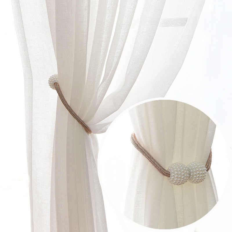 1x Pearl Magnetic Curtain Clip Curtain Holders Tieback Buckle Clips Hanging Ball Buckle Tie Back Curtain Straps Home Decoration