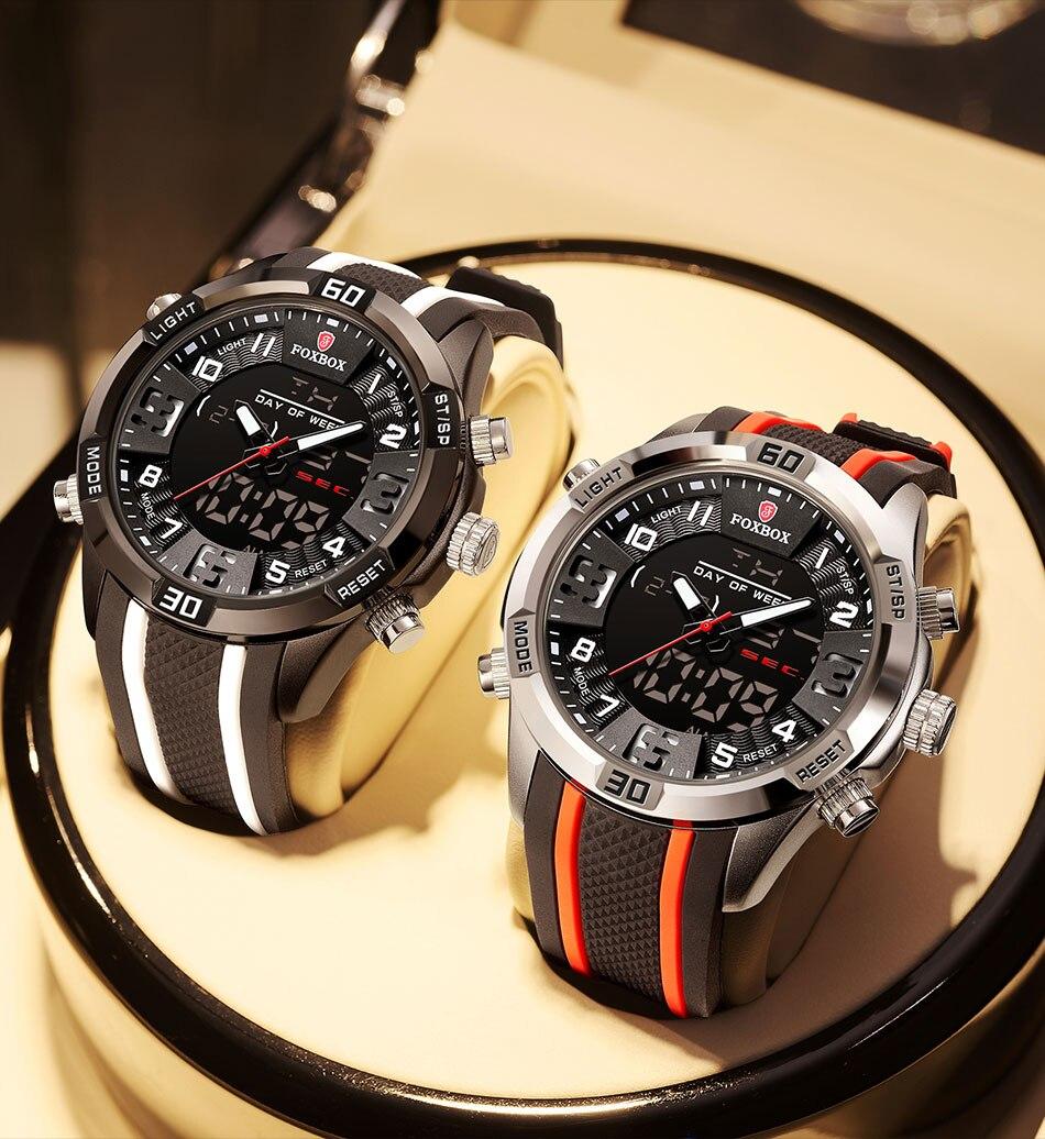 Ha39515a6a4064f109202afa13ef2fe59h Watch For Men FOXBOX Top Brand Luxury Dual Display