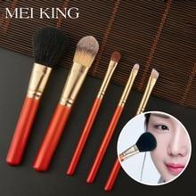 цена на MEIKING 5pcs Makeup Brushes Set For Loose powder Foundation Eyeshadow Eyebrow Lip brush Make Up Brush Cosmetics Beauty Tools