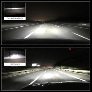 Image 2 - Canbus 90 W/Pair מנורת H4 LED מיני מקרן עדשת Automobles הנורה 14000LM המרת ערכת Hi/Lo קרן פנס 12V/24V RHD LHD