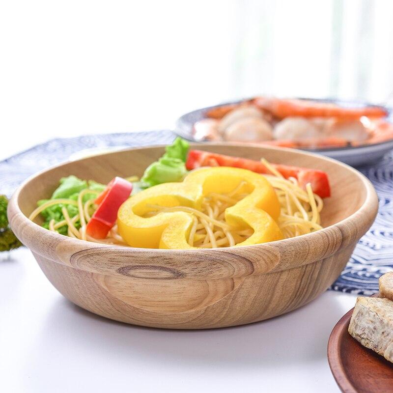 В японском стиле деревянный чаша ужин дома с ручкой продукты из лапши контейнеры посуда