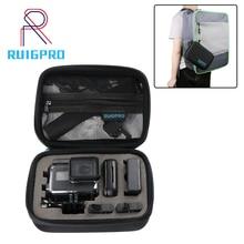 купить RP Portable Small EVA Action Camera Case for GoPro Hero 7 6 5 Black 4 Xiaomi Yi 4K Sjcam Sj4000 Eken H9r Box Go Pro Accessory дешево