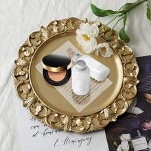 Plateau de rangement rond rétro, Pot à thé, plateau de rangement pour gâteaux, maison, décoration de mariage, assiette d'exposition de bijoux
