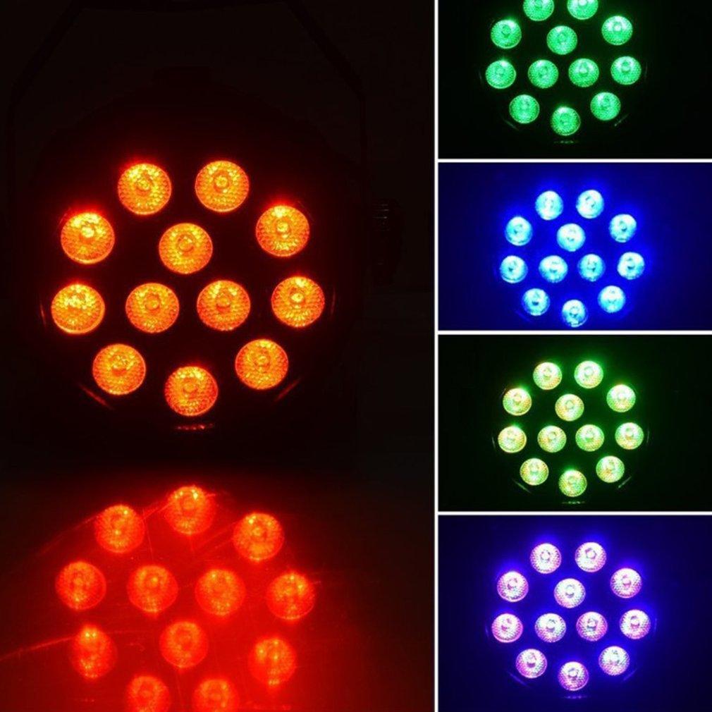 Par Light 12 LED RGB 18W Stage Lighting Club Disco Party Ballroom KTV Bar Wedding DJ Projector Spotlight