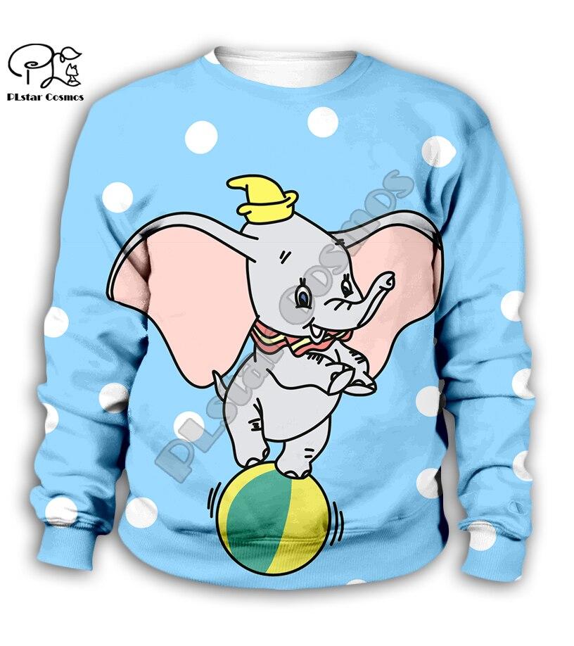 Chlid Kids Dumbo 3d print Cartoon Hoodies autumn long sleeve Sweatshirts blue tshirts zipper Baby Girl boy kawaii shorts pant in Matching Family Outfits from Mother Kids