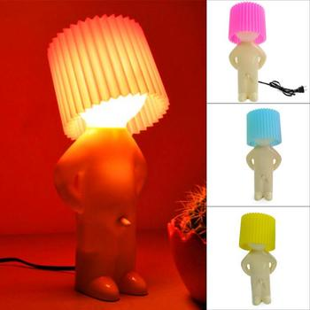 Mr.P a little shy man creative lamp Naughty boy small night lights Candy color Naughty boy night light home decoration nice gift фото