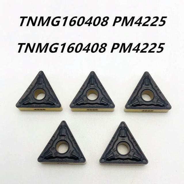10PCS high quality cylindrical turning tool TNMG160408 PM4225 hard alloy blade TNMG 160408 machine tool accessories lathe tool