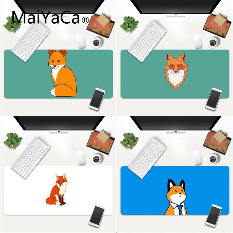 MaiYaCa Custom Skin Cute Fox Laptop Gaming Mice Mousepad Gaming Mouse Pad Large Deak Mat 600x300mm for overwatch/cs go