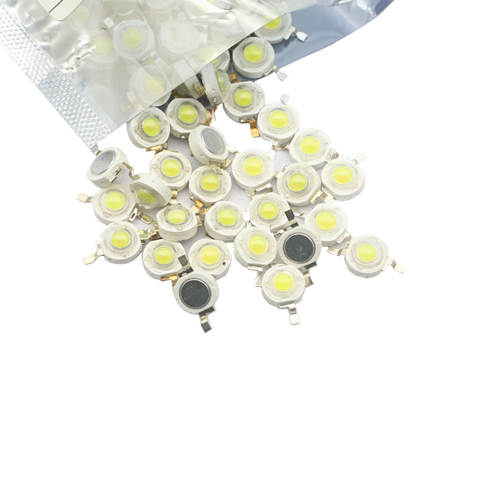 10/100/1000 pcs Real Full Watt CREE 1W 3W High Power LED lamp Beads SMD 110-120LM LED Chip For DIY SpotLight Downlight Lamp Bulb