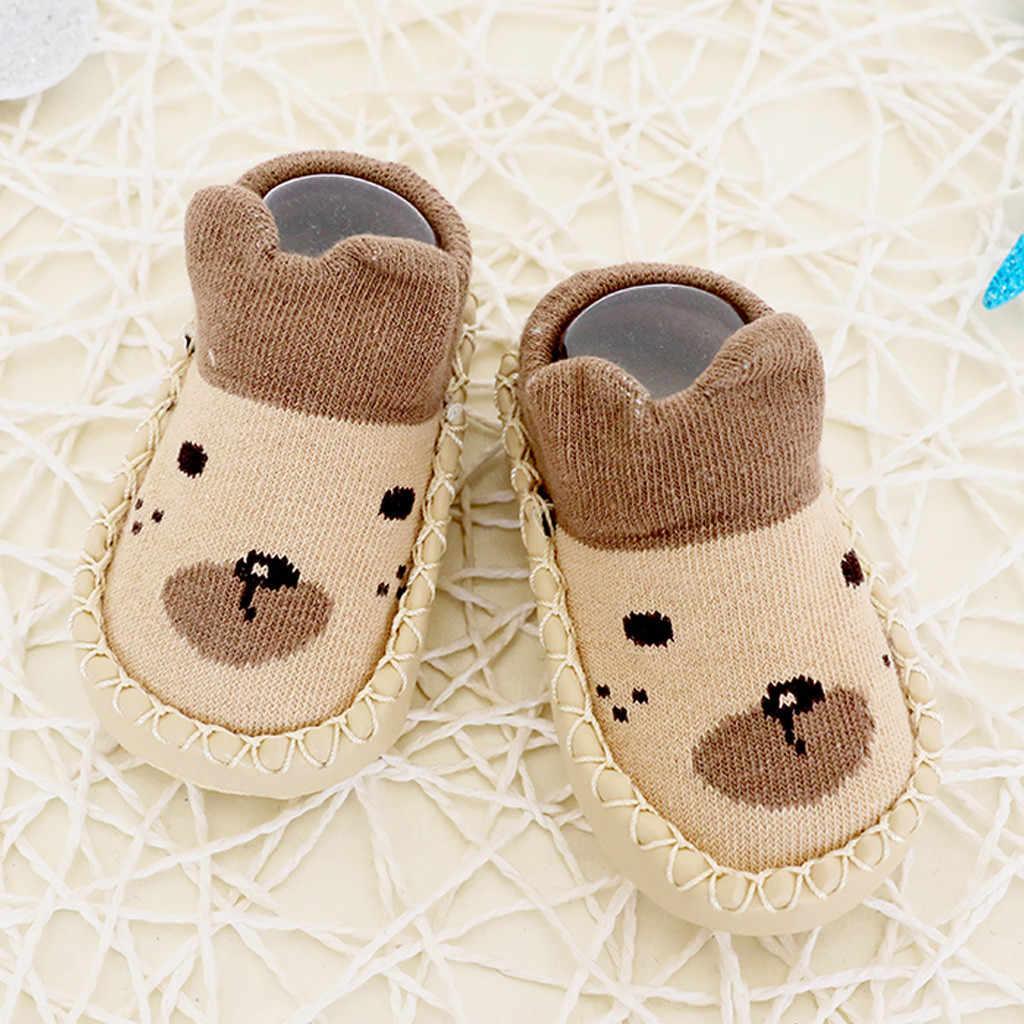 Cartoon Newborn Shoes Baby Schoenen Toddler Girls Boys Anti-Slip Socks Slipper Shoes Boots Soft Sole Scarpe Bambina Baby Booties
