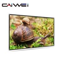 60 72 84 tela de projeção de 100 polegadas 16:9 tela de alumínio reflexivo para telas montadas na parede hd desktop cinema em casa|Acessórios p/ projetor|   -