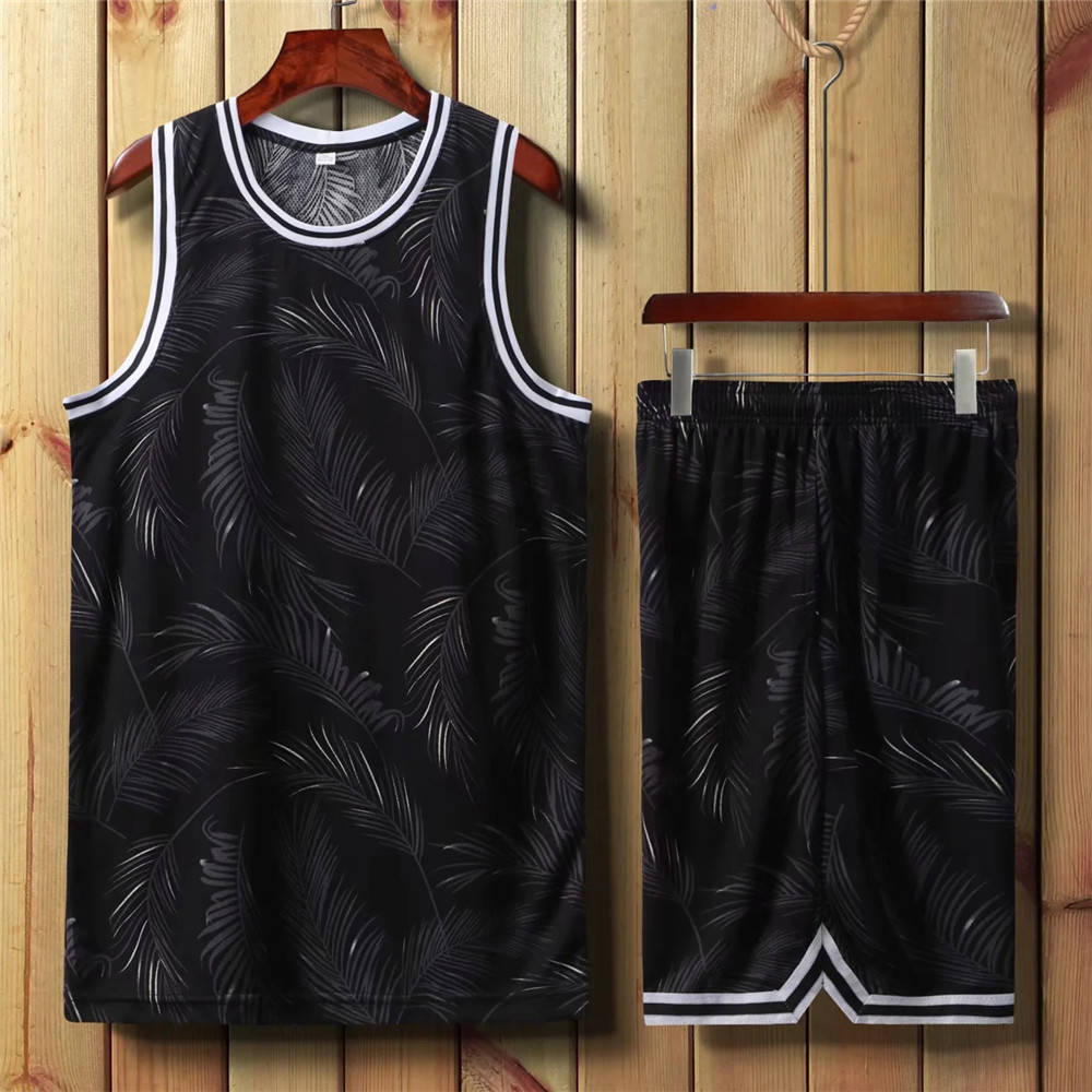 2020 New Personality Men Basketball Set Uniforms Kits Sports Clothes Kids Basketball Jerseys College Tracksuits DIY Customized