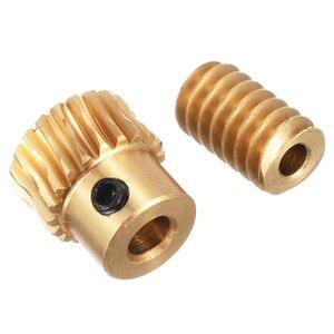 Высокая твердость двигателя выход медная Червячная Шестерня колеса золото медная червячная колесо 0,5 Modulus 1:10 передаточное число