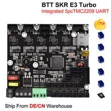 Bigtreetech skr e3 turbo placa de controle tmc2209 uart 3d peças da impressora para creality ender 3 atualizar btt skr mini e3 v2 skr v1.4