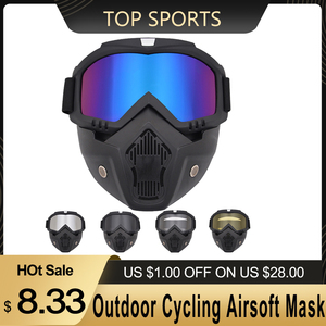 Image 1 - Outdoor Cycling Airsoft Mask Full Face Helmet Paintball Mask Airsoft Safety Protective Anti fog Goggle Protective Tactical Mask