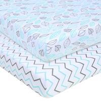 Набор Матрасы для детской кроватки с принтом, 100% натуральный хлопок, комплект простыней для маленьких мальчиков и девочек, мягкий дышащий г...