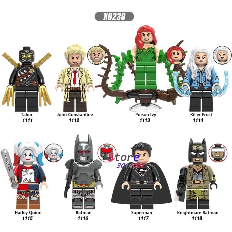 Single DC Batman Superman Talon John Constantine Poison Ivy Killer Frost Harley Quinn Building Blocks Bricks Toys For Children
