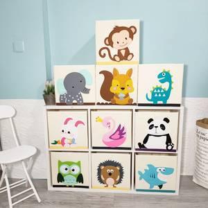Toys Organizer Basket Storage-Box Cube Oxford Cloth Folding Animal Embroider Children