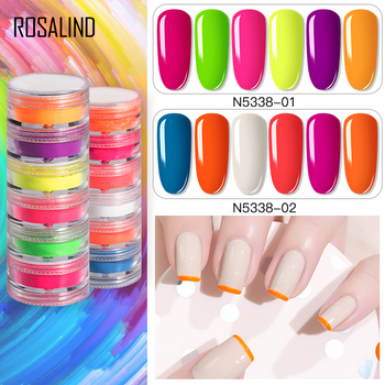 New Candy Fluorescent Powder 6-color Nail Art Jewelry Pearl Halo Dyeing Powder Mermaid Ji High Gloss Powder Nail Art Tools TSLM1 image