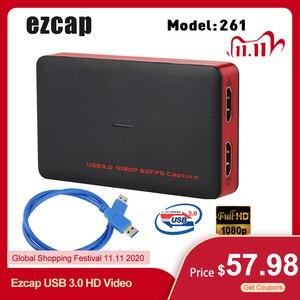 Image 1 - Ezcap USB 3.0 HD וידאו לכידת משחק 1080P וידאו ממיר לחיות Sreaming תקע ולשחק HD קלט פלט עבור XBOX אחד PS4 Windows