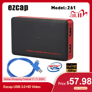 Image 1 - Ezcap USB 3.0 HD Video Game Capture 1080P Video Converter Live Sreaming Plug and Play HD Input Output for XBOX One PS4 Windows