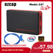 Ezcap convertidor de vídeo USB 3,0 HD para XBOX One, PS4 y Windows, convertidor de vídeo de 1080P, Plug and Play HD
