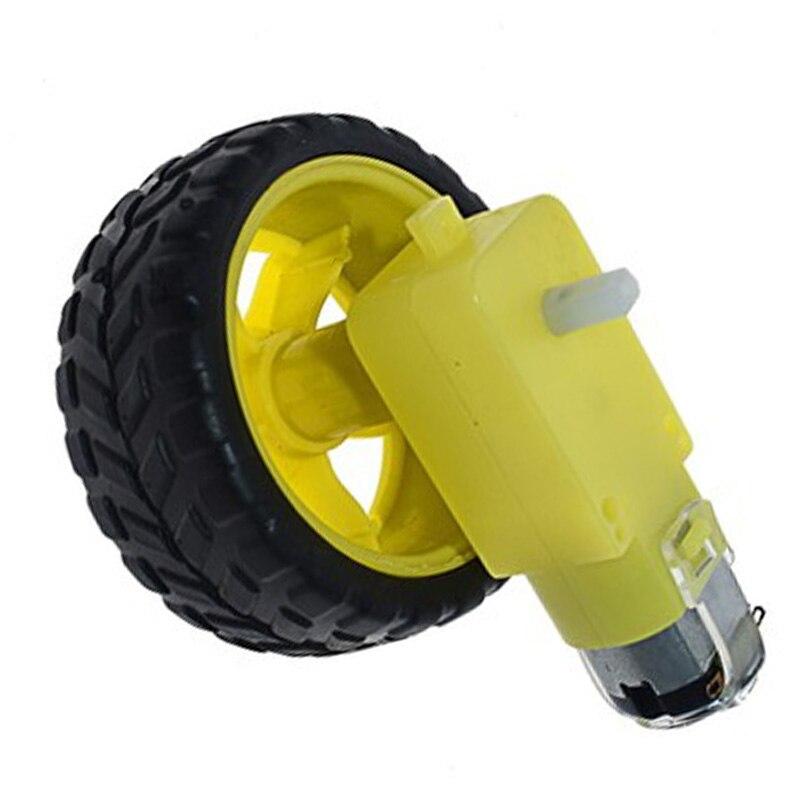 Motoriduttore Mini Micro TT a doppio albero In motori a corrente continua da 3V a 6V e ruota In gomma per Robot Smart Car giocattoli