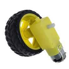 Mini Micro TT Double Shaft Gear Motor In DC Motors 3V To 6V And Rubber Wheel Use For Toys Smart Car Robot стоимость
